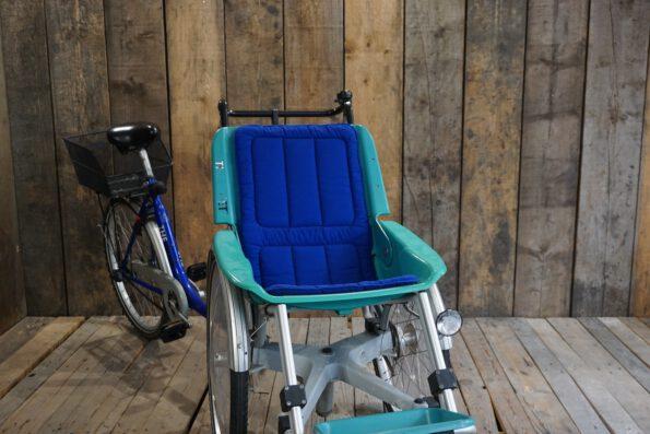 Rollfiets Blue ohne Motor schräg