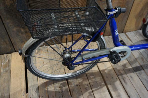 Rollfiets Blue ohne Motor Heck