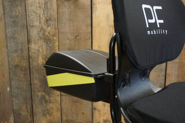 PF Mobility Disco blau gebraucht Heckbox Detail