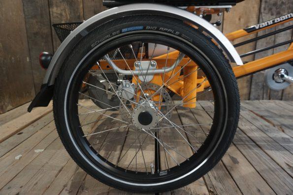 Van Raam Fun2Go Gelborange Reifen Bremsen