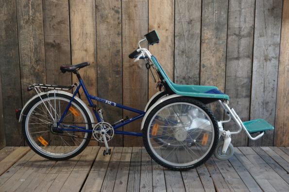 Rollfiets blau-tuerkis ohne Motor Profil