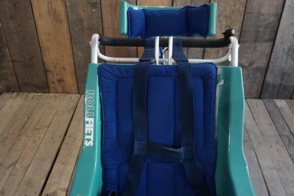 Rollfiets blau-tuerkis ohne Motor Sitz